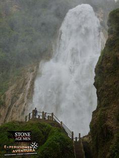 Impresionante esta caída de agua de 120 metros perteneciente a la Cadena de Cascadas el Chiflón en la comunidad Tzimol, Comitán, Chiapas.
