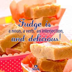 Need a recipe for a tasty sweet snack? Try this microwave fudge recipe for a delicious baked treat today. Stork – love to bake. Fudge Recipes, Baking Recipes, Snack Recipes, The Joy Of Baking, Microwave Fudge, Stork, Minis, Chips, Tasty