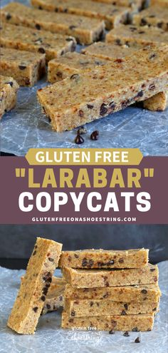 "Get this tested LARABAR copycat recipe for Peanut Butter Chocolate Chip bars—a no bake ""granola"" bar recipe that makes the perfect gluten free breakfast or snack! #Breakfast #GlutenFree #Snacks Gluten Free Donuts, Gluten Free Peanut Butter, Gluten Free Snacks, Peanut Butter Recipes, Vegan Butter, Gluten Free Recipes For Breakfast, Gluten Free Breakfasts, Snack Recipes, Cooking Recipes"