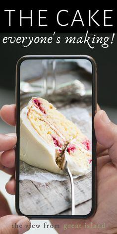 Raspberry Lemon Cakes, Lemon Desserts, Lemon Recipes, Baking Recipes, Delicious Desserts, Cake Recipes, Dessert Recipes, Yummy Food, Cupcake Cakes