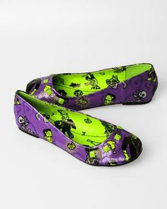 #Iron Fist Monster Mash Flats - Purple*Shoes w/ Frankenstein on them! ♥*