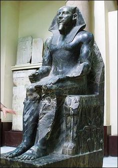 Khafra (also read as Khafre, Khefren and Chephren) was an ancient Egyptian king (pharaoh) of 4th dynasty during the Old Kingdom. Khafra was the builder of the second largest pyramid of Giza.
