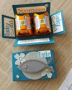 Kommunion Konfirmation Schachtel Box gift box thank you fish Fisch Stampin up AnnasBastelkiste