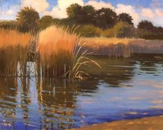 Reeds by Carolyn Hesse-Low Oil ~ 16 x 20