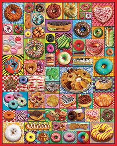 Donuts & Pastries 1000 Piece Puzzle by White Mountain Puzzles