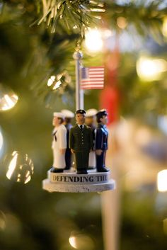 military ornament that should be on every tree in American - it is because of the work they do that we can have the lives we do