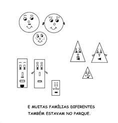 Além de abordar o tema 'formas geométricas', é possível falar de família, sinais de igual e diferente, as diferenças individuais e o respeit...