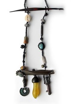 Han Dong Necklace 2012, Wood, ancient iron, ancient bronze, ancient pottery 20 x 53 x 2.5 cm