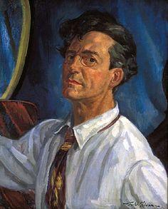 John Sloan (American, 1871-1951),  Self-Portrait, Working 1916