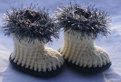 crochet baby booties... #crochet