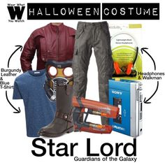 A Halloween Costume how-to inspired by Chris Pratt as Star Lord in 2014's Guardians of the Galaxy.
