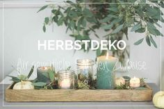 Herbstdeko im Glas Table decoration for fall with ball Mason Jars Pot Mason, Ball Mason Jars, Pots, Fall Crafts For Kids, Autumn Garden, Diy Home Crafts, Decoration Table, Diy Garden Decor, Diy Table
