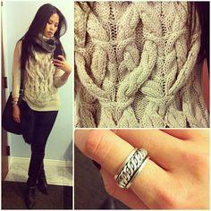 3D knit cables.
