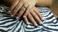 Azul floreado