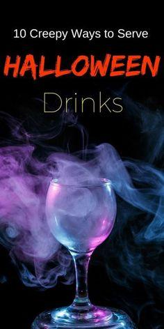 10 creepy ways to serve halloween drinks halloween cocktailshalloween party ideashalloween - Cool Halloween Party Ideas