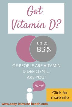 The symptoms of vitamin d deficiency are many and varied. Could your problems be from vitamin D deficiency?   http://www.easy-immune-health.com/Vitamin-D-facts.html