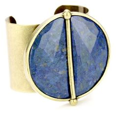 """Paige Novick """"St Barths"""" Medallion Cuff Paige Novick. $238.64. handmade in Manhattan. contains natural  rose cut lapis insets and may vary in color. smoothe malleable cuff. Total weight is 142 grams. Made in USA. Save 58%!"""