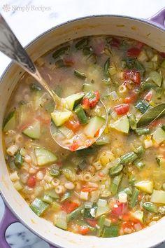 Summer Minestrone Soup Recipe