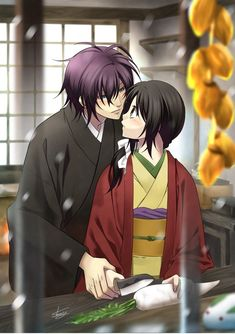 Anime Love Story, Anime Love Couple, Cute Anime Couples, Samurai, Manga Anime, Anime Art, Picture Folder, Funny Naruto Memes, Familia Anime