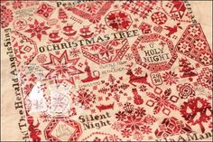 Quaker ChristmasⅡ      by ByGone Stitches        Fabric : Lakeseide linens  40ct  Vintage Light Examplar          Thread : Nina's Threads