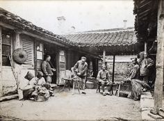 Courtyard of a Country House in China, by William Saunders, ca.1870