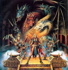 The Greatest Dragon In All Of Fantasy? High Fantasy, Fantasy Rpg, Medieval Fantasy, Fantasy Artwork, Fantasy World, Fantasy Images, Forgotten Realms, Dungeons And Dragons, Dragonlance Chronicles
