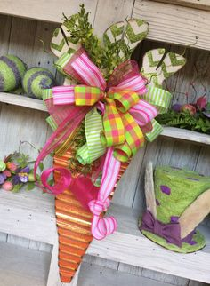 Easter Wreath Carrot Wreath Spring Wreath Easter Carrot by Keleas