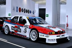Sede provvisoria del Museo dell'Automobile di Torino, Temporary premises of the Turin National Automobile Museum, 1996 Alfa Romeo 155 TI Alfa Romeo 155, Alfa Romeo Cars, Racing Car Design, Toyota 2000gt, Martini Racing, Vintage Race Car, Sport, Race Cars, Cool Cars