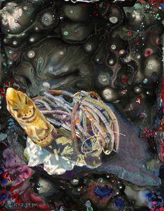 Recurring Dreams 10.     sumi ink, archival ink, pencil crayon & acrylic on Dura-Lar     8.5 x 11 inches    2014  next image