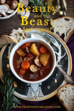 A recipe for beef ragout inspired by the Walt Disney movie, Beauty and the Beast. Beauty and the Beast: Beef Ragout Recipe inspired by the Disney movie, Beauty and the Beast starring Emma Watson and Dan Stevens. Beef Ragout, Ragout Recipe, Disney Inspired Food, Disney Themed Food, Disney Dinner, Dinner And A Movie, Food Themes, Food Ideas, Beauty And The Beast