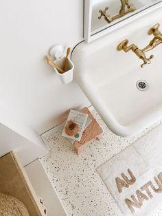 Terrazo Flooring, Diy Flooring, Bathroom Flooring, Kitchen Flooring, Craftsman Remodel, Laundry In Bathroom, Washroom, Master Bathroom, Painted Floors