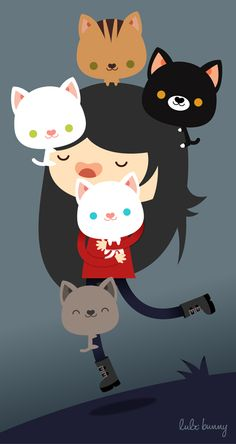 Kitty Love by LuliTheBunny.deviantart.com on @deviantART