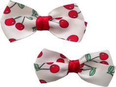 Cherry Mini Bows by RebelBowz on Etsy