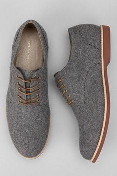 Grey saddle oxford
