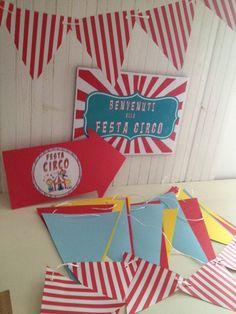 Festoni personalizzati per FESTA CIRCO, fai da te...#byCristinabambinocreativo