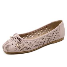 8d0a4cfe59fc Breathable Loafers Sweet Bowtie Platform Shoes Woman 2017 Summer Slip On Ballet  Flats Casual Cut-