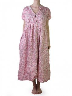 Daniela Gregis micro flowers cotton and linen dress