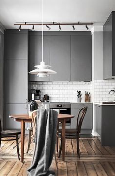 Monochrome Style Kitchen and Dining