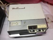 Vtg WOLLENSAK T-1500 Reel To Reel Tape Recorder With AC Power Cord, Cover & +