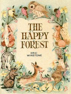 awesome vintage forest animal children's book illustration