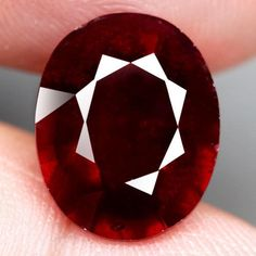 8.66CT.GORGEOUS! OVAL FACET TOP BLOOD RED NATURAL RUBY MADAGASCAR #GEMNATURAL