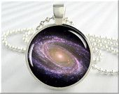 Space Galaxy Pendant The Messier Galaxy Hubble Telescope Necklace Resin Space Pendant (310RS)