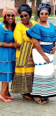 South African Dresses, South African Traditional Dresses, African Fashion Dresses, Traditional Outfits, Traditional Styles, Fashion Outfits, Style Fashion, African Wedding Attire, African Attire