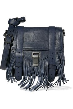 Proenza SchoulerPS1 Mini Pouch fringed leather shoulder bag