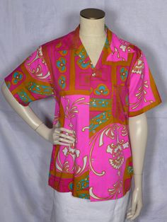 Vintage Mr Kailua Hawaiian Print Shirt available at My Vintage Clothes Line on Ruby Lane. Hawaiian Print Shirts, Vintage Hawaiian Shirts, Vintage Style, Vintage Fashion, 1970s Style, Ruby Lane, Print Design, 1960s, Vintage Outfits