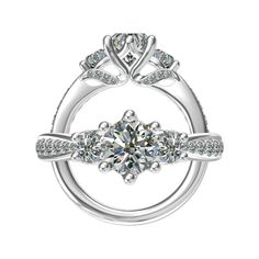 Three Stone Engagement Ring by Harout R from Wedding Day Diamonds