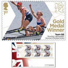Large image of the  Team GB Gold Medal Winner First Day Cover - Katherine Copeland & Sophie Hosking