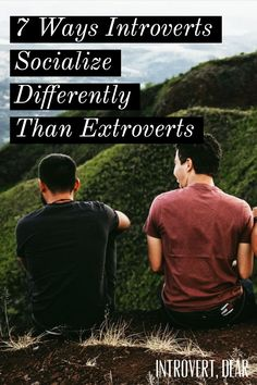 Introverts need close friendships, too — we just go about socializing differently. Here are seven ways introverts socialize differently than extroverts. Introvert Love, Extroverted Introvert, Infj Infp, Facts About Guys, Myers Briggs Personality Types, Isfj Personality, Introvert Problems, Counseling Activities, Finding Your Soulmate