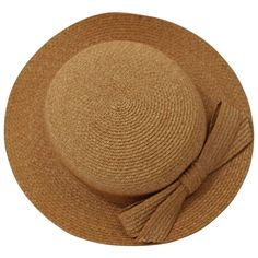 Vintage Emillio Pucci Woven Straw Tan Hat with Bow | From a collection of rare vintage hats at https://www.1stdibs.com/fashion/accessories/hats/