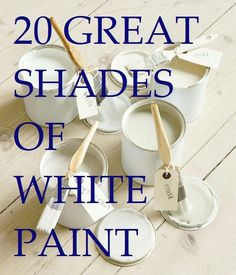 Laurel Bern shares her list of great shades of white paint (mostly by Benjamin Moore) and some she recommends avoiding.the best shades of white paint.